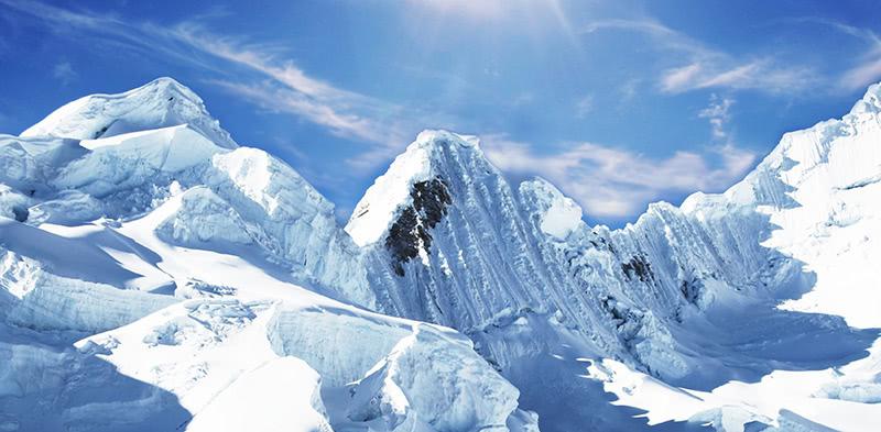 Foto von schneebedeckten Bergen